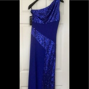 Dresses & Skirts - One-Shoulder Sequin Formal Dress